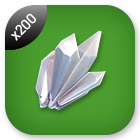 200x Quartz Crystal