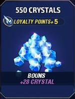 550 Crystals