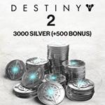 3000 (+500 Bonus) Destiny 2 Silver
