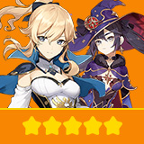 Jean & Mona | 2 Five-star Character + Random 4-star | not real-named, Can be Bound to Mobile Phones, Can Change Passwords, 100% Safe Guaranteed!