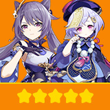 Keqing & Qiqi | 2 Five-star Character + Random 4-star | not real-named, Can be Bound to Mobile Phones, Can Change Passwords, 100% Safe Guaranteed!