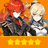 Diluc & Jean | 2 Five-star Character + Random 4-star | not real-named, Can be Bound to Mobile Phones, Can Change Passwords, 100% Safe Guaranteed!