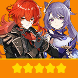Diluc & Keqing | 2 Five-star Character + Random 4-star | not real-named, Can be Bound to Mobile Phones, Can Change Passwords, 100% Safe Guaranteed!