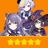 Keqing & Mona & Qiqi | 3 Five-star Character + Random 4-star | not real-named, Can be Bound to Mobile Phones, Can Change Passwords, 100% Safe Guaranteed!