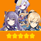 Keqing & Jean & Qiqi| 3 Five-star Character + Random 4-star | not real-named, Can be Bound to Mobile Phones, Can Change Passwords, 100% Safe Guaranteed!