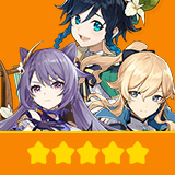 Keqing & Jean & Venti| 3 Five-star Character + Random 4-star | not real-named, Can be Bound to Mobile Phones, Can Change Passwords, 100% Safe Guaranteed!
