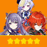 Keqing & Diluc & Qiqi| 3 Five-star Character + Random 4-star | not real-named, Can be Bound to Mobile Phones, Can Change Passwords, 100% Safe Guaranteed!
