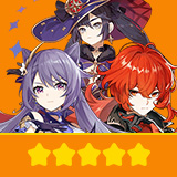 Keqing & Diluc & Mona| 3 Five-star Character + Random 4-star | not real-named, Can be Bound to Mobile Phones, Can Change Passwords, 100% Safe Guaranteed!