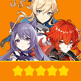Keqing & Diluc & Jean| 3 Five-star Character + Random 4-star | not real-named, Can be Bound to Mobile Phones, Can Change Passwords, 100% Safe Guaranteed!