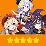 Klee+Mona+Qiqi| 3 Five-star Character + Random 4-star | not real-named, Can be Bound to Mobile Phones, Can Change Passwords, 100% Safe Guaranteed!