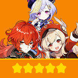 Klee+Diluc+Qiqi| 3 Five-star Character + Random 4-star | not real-named, Can be Bound to Mobile Phones, Can Change Passwords, 100% Safe Guaranteed!