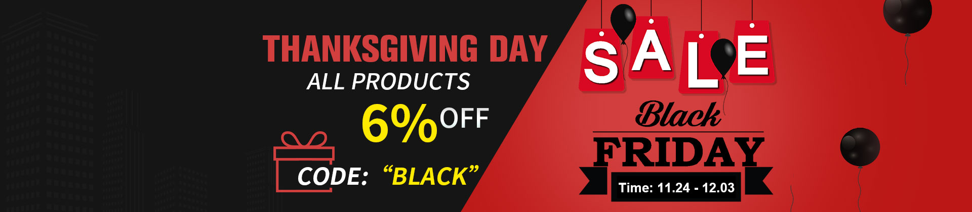 Black friday 20%-off discount