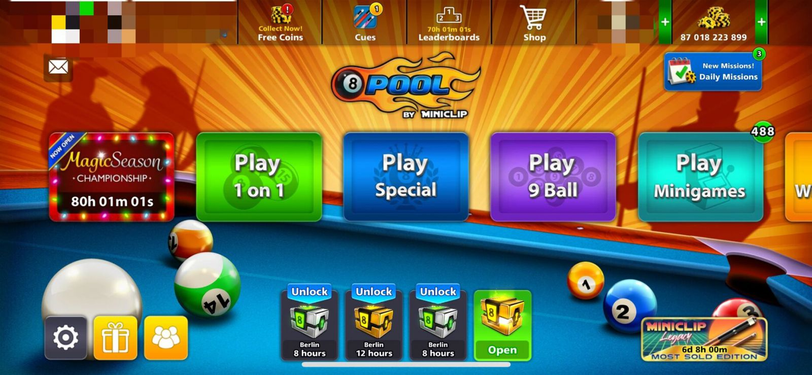 Cheap 8 Ball Pool Coins, Buy Safe 8 Ball Pool Cash, Free 8BP Coins