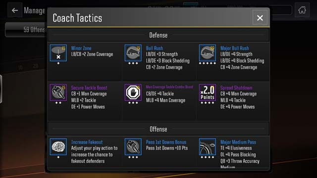 Madden NFL Mobile 19 - Three Different Categories of Tactics