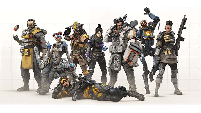 Eight Characters for Apex Legends