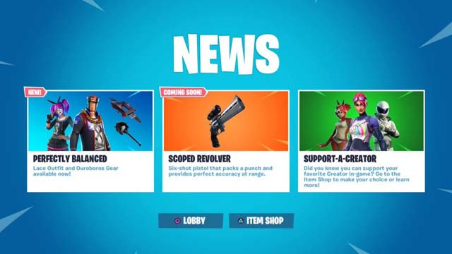 Fortnite Updates: New Looting System, Scoped Revolver, Fix