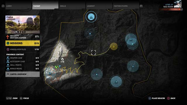 Skill Points Map