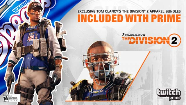 The Division 2 Is Now Offering Exclusive Loot for Twitch Prime Members